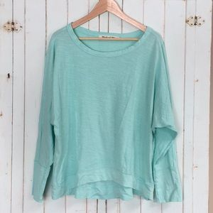 Michael Stars Mint Green OS Slouchy Oversized Top